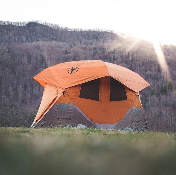 Orange gazelle tent