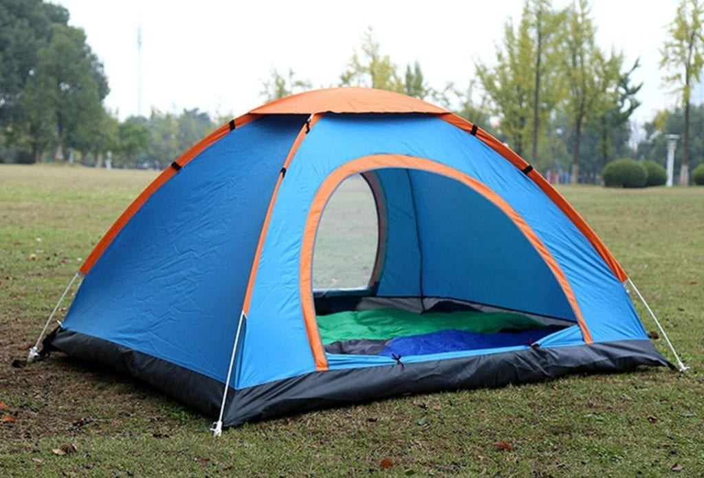 Quechua Pop Up Tent on the grounds