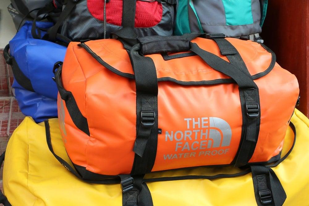 Colored duffel bag in orange