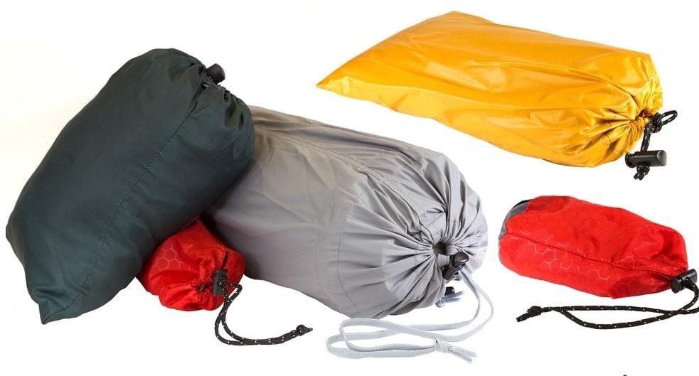 Hammock tarps inside a pack