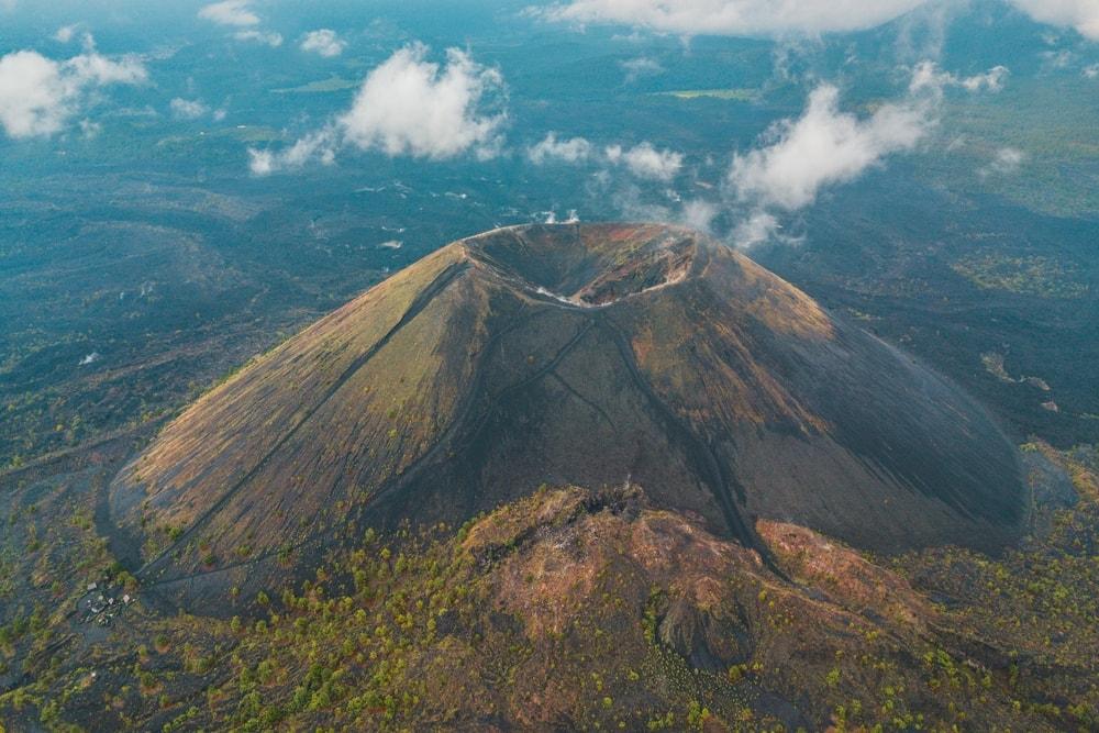 Aerial View of Paricutin volcano in Mexico