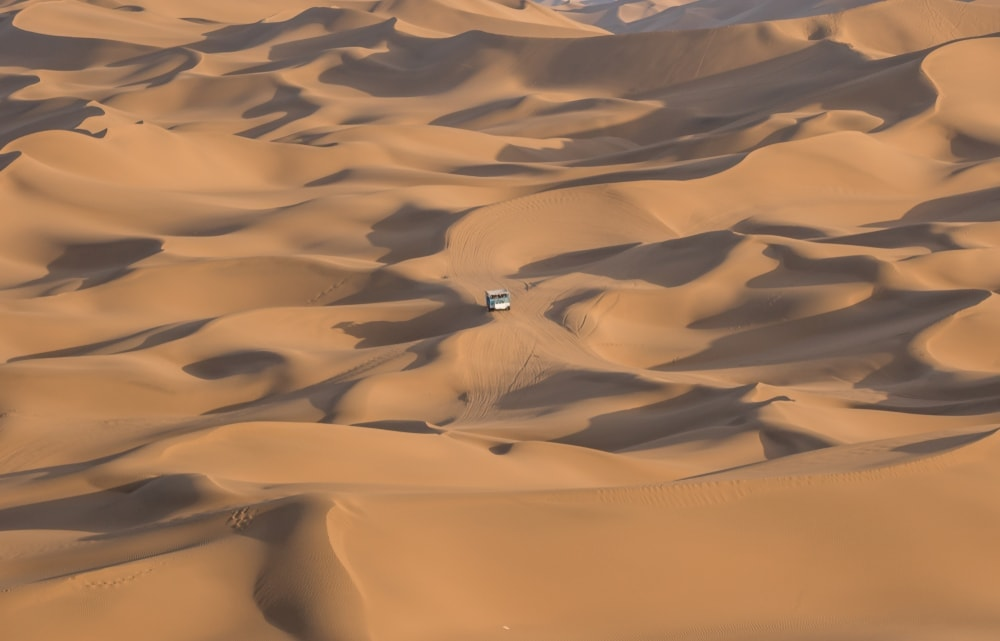 Car in the middle of Taklamakan Desert