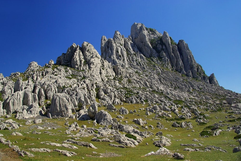 Karst Mountain landscape in Verebit national Park