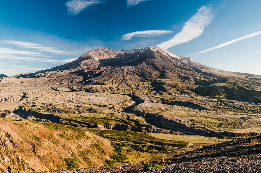 Breathtaking view of Mount St. Helen's crater