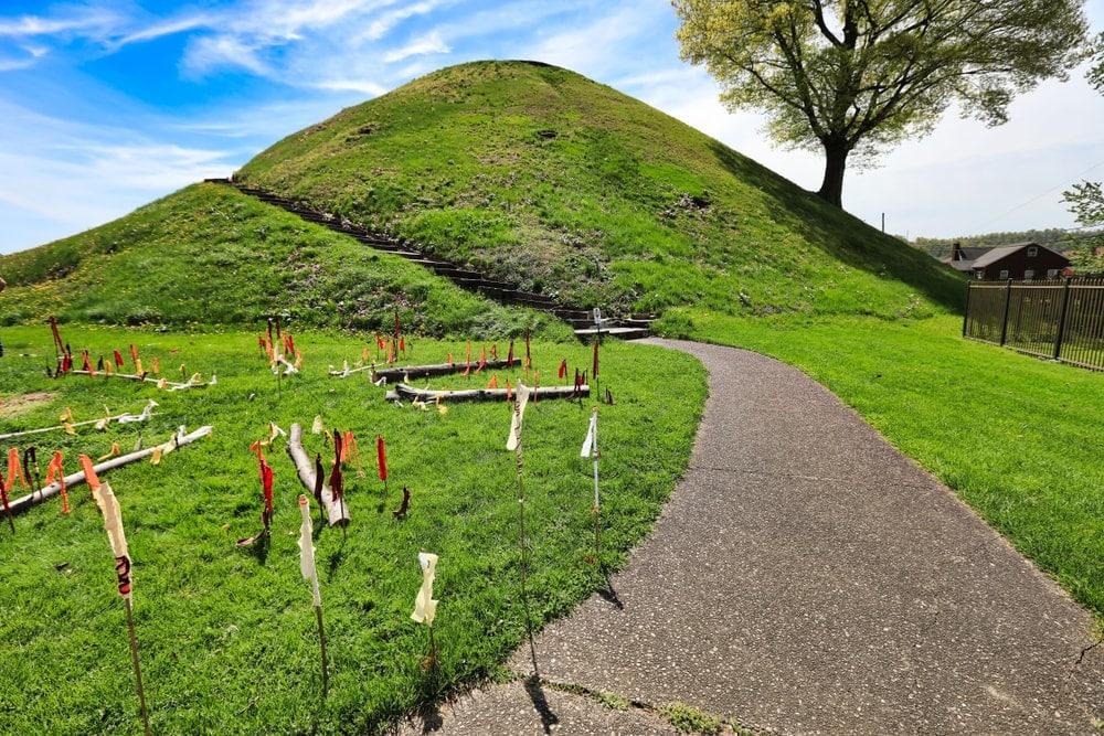 A manmade mound in West Virginia