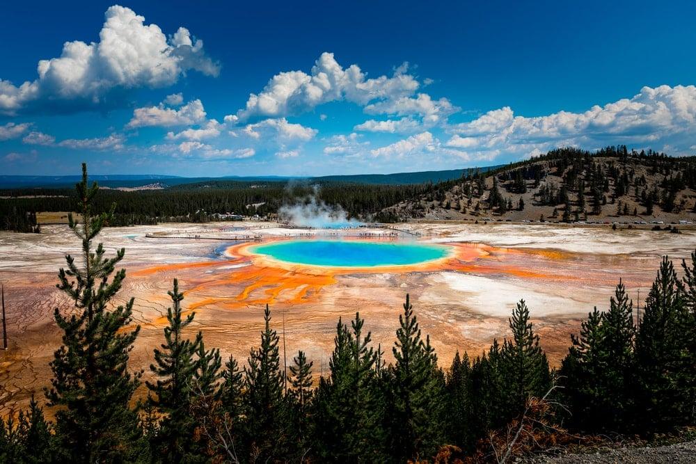 Supervolcano in Yellowstone National park