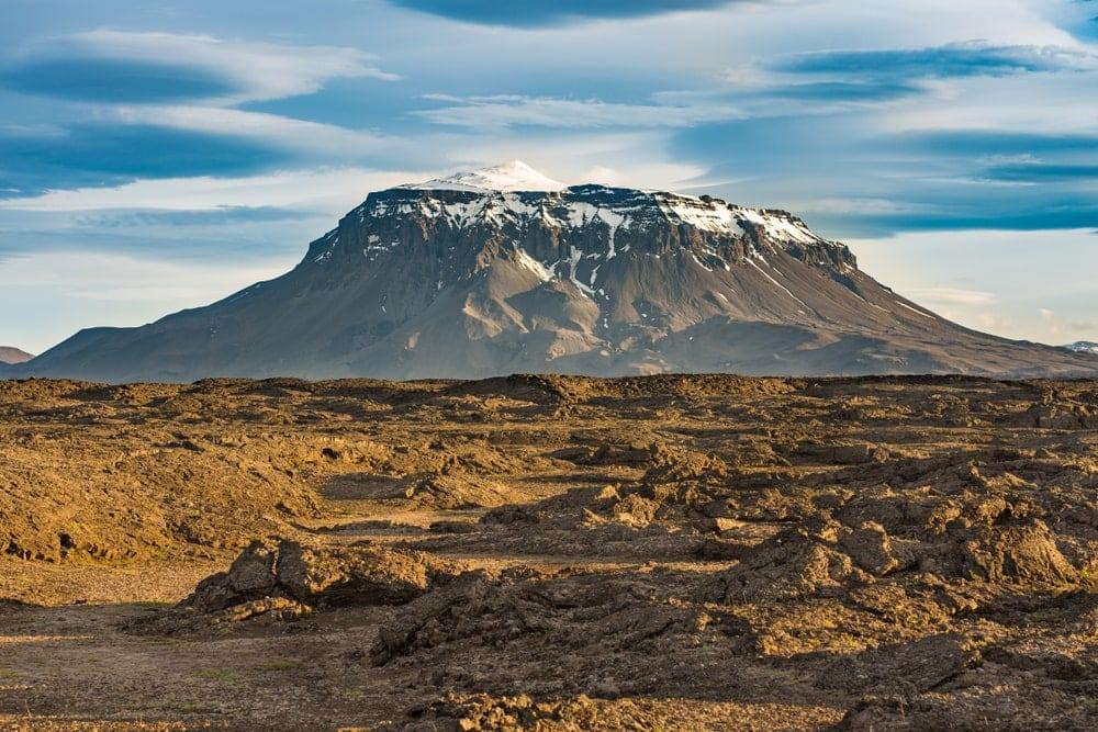 Mt. Herðubreið volcano in Iceland
