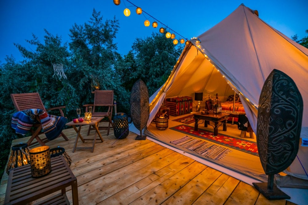 Glamping - luxury comfort camping in nature