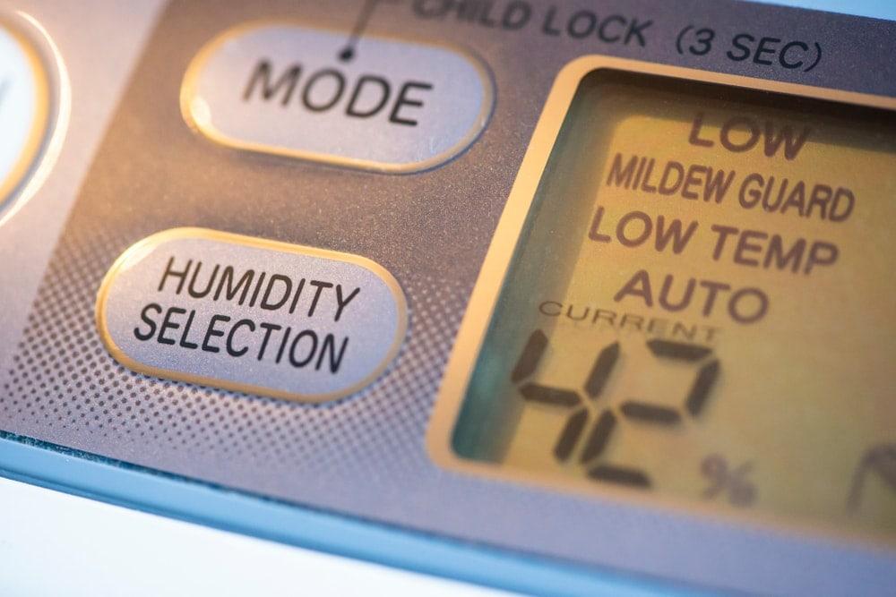 Close up look of a dehumidifier