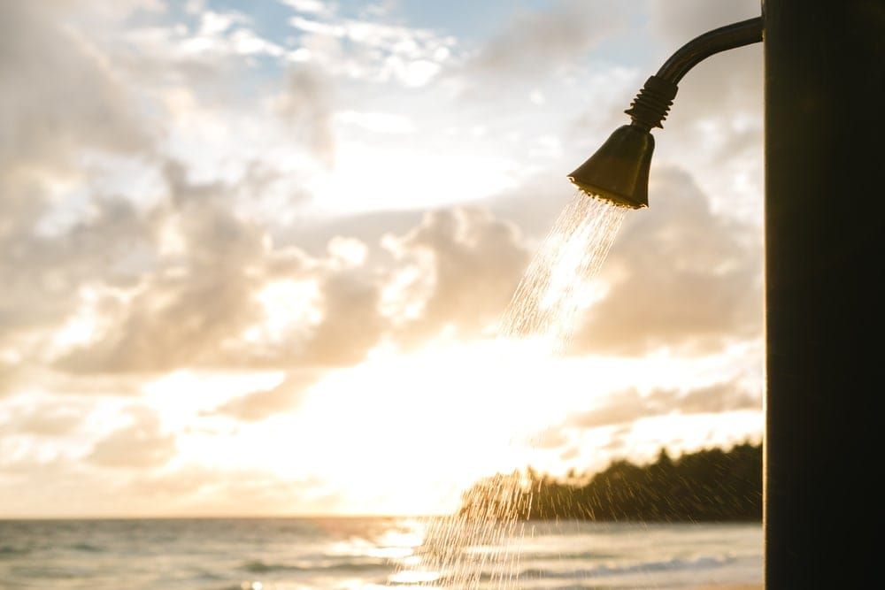 Shower in the beach