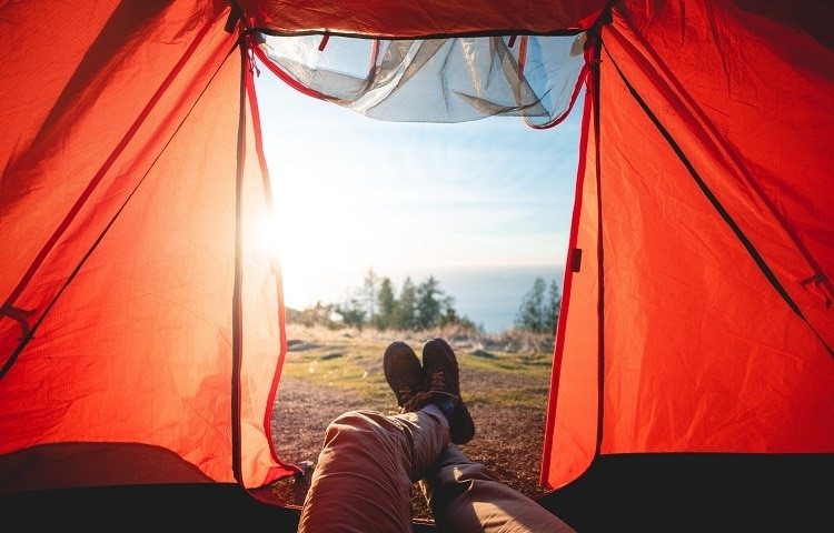 alone in the tent