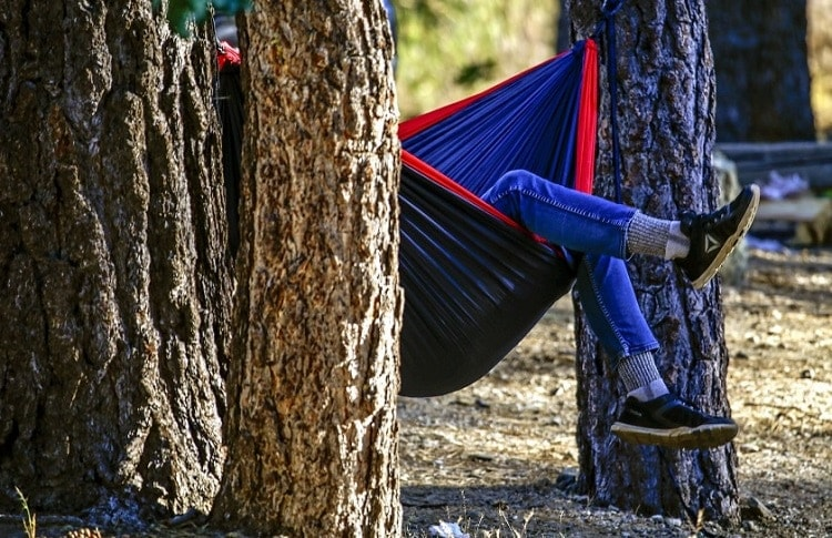 camping and social distance