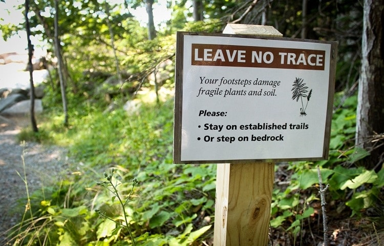 leave no trace rule