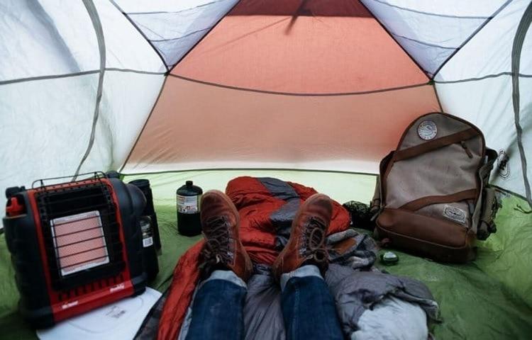 heater in tent