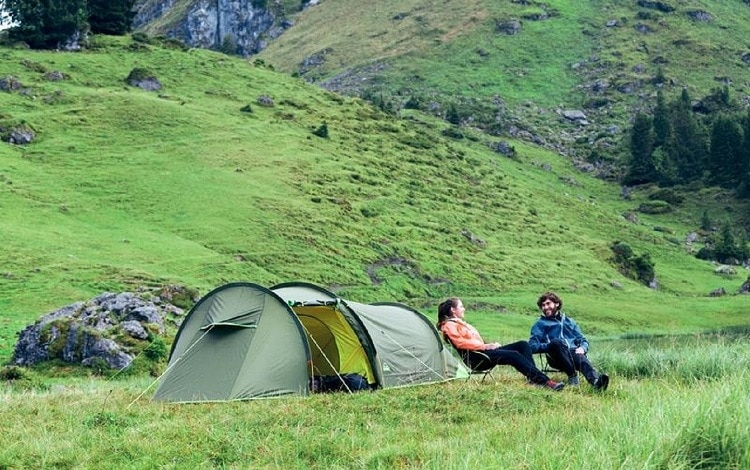 couple for primitive camping