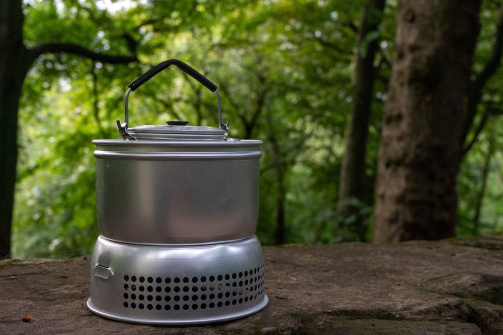 Stainless alcohol stove for camping