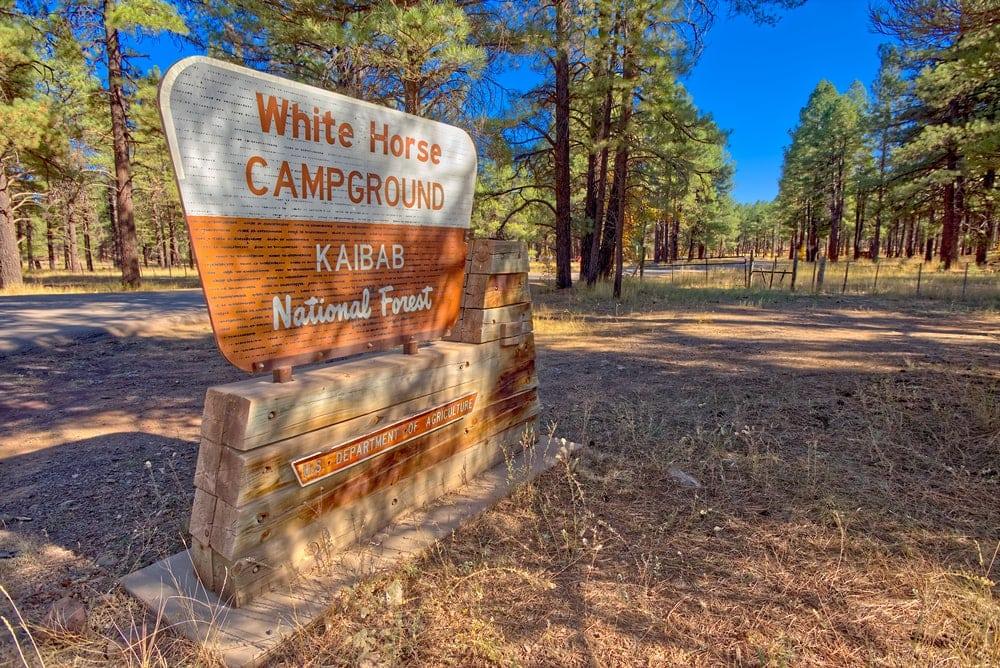 Horse Campground Signage