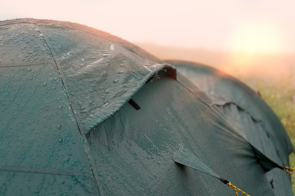 Wet camping tent
