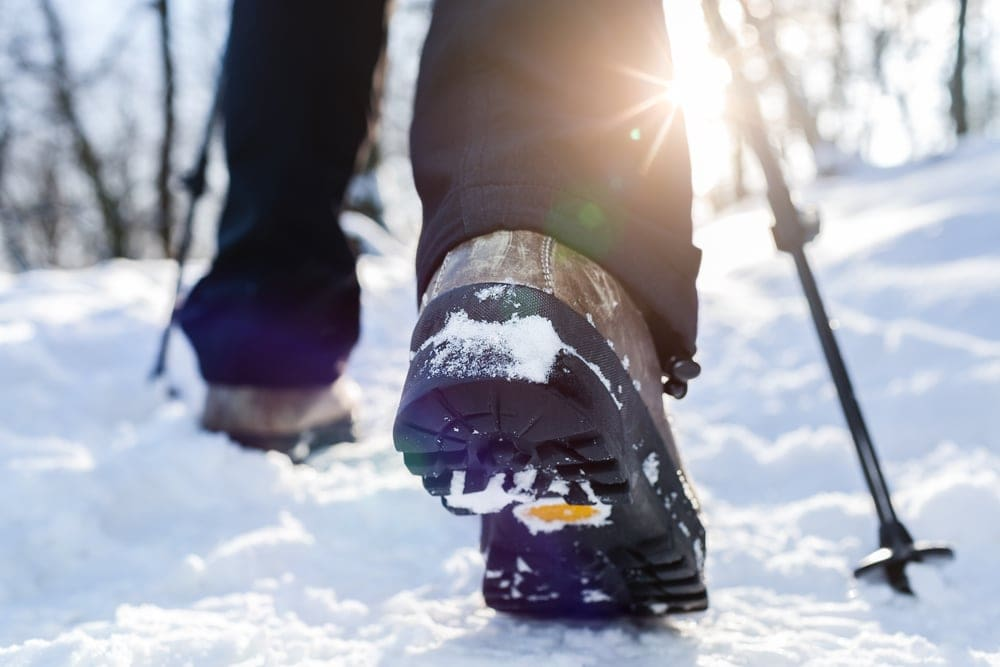 Outsole of hiking winter shoes