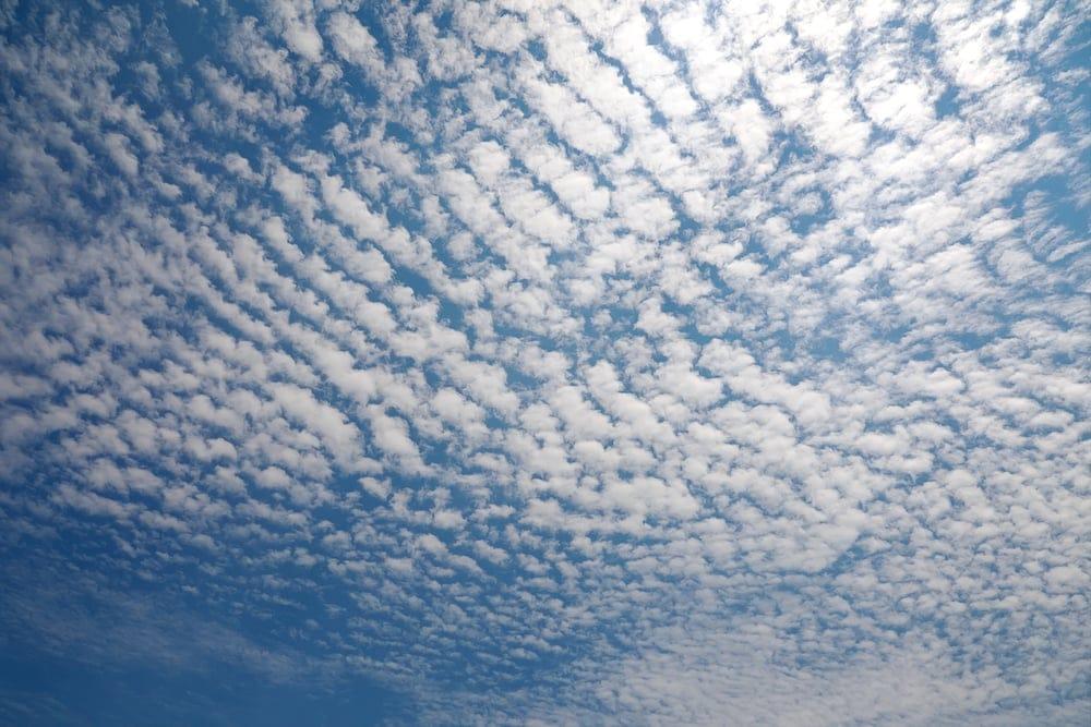 Cirrocumulus Cloud in blue sky