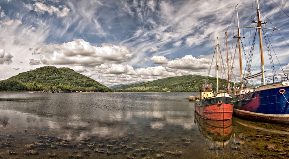 Two boats on the scenic location of Loch Fyne