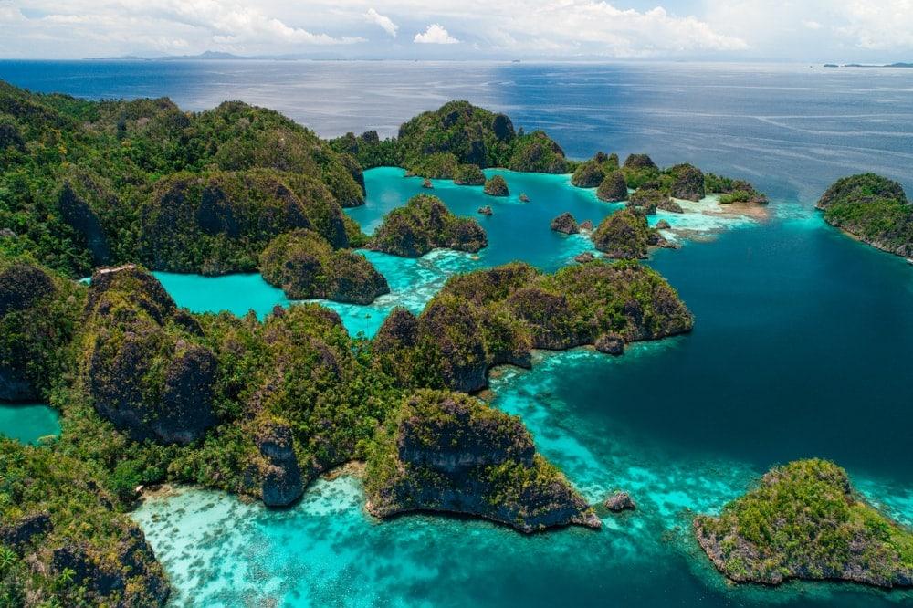 Archipelago coastal landform in Indonesia