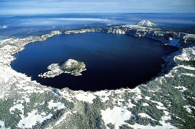 Caldera volcanic landform