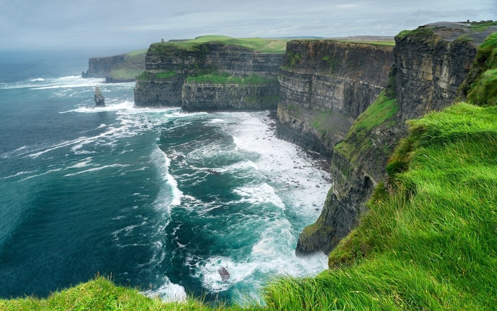 Sea cliff coastal landform in Ireland