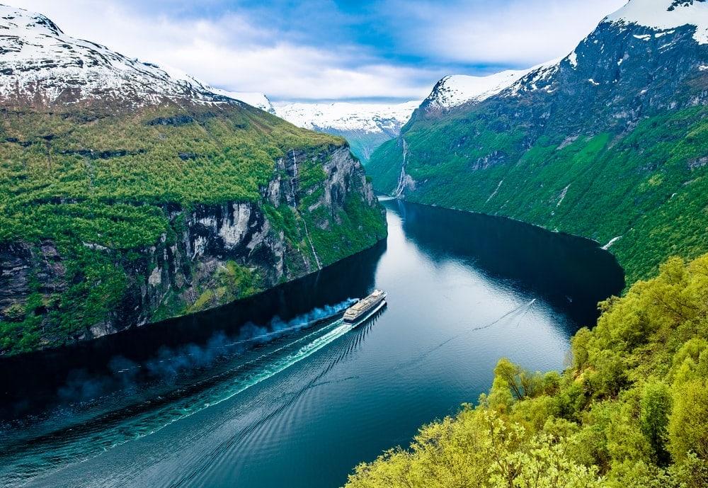 Fjord coastal landform in Norway