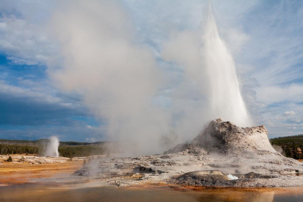 Geyser volcanic landform