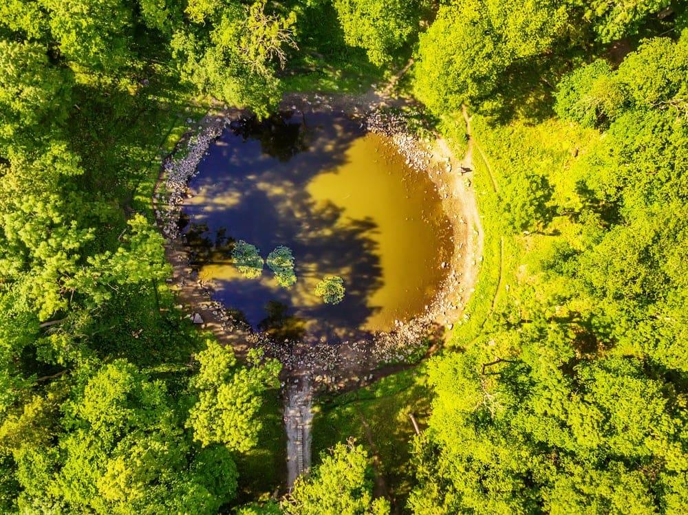 Impact crater landform in Estonia