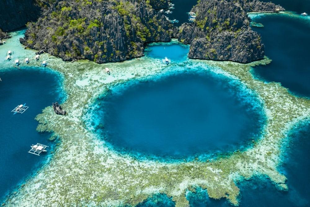 Lagoon coastal landform in Philippines
