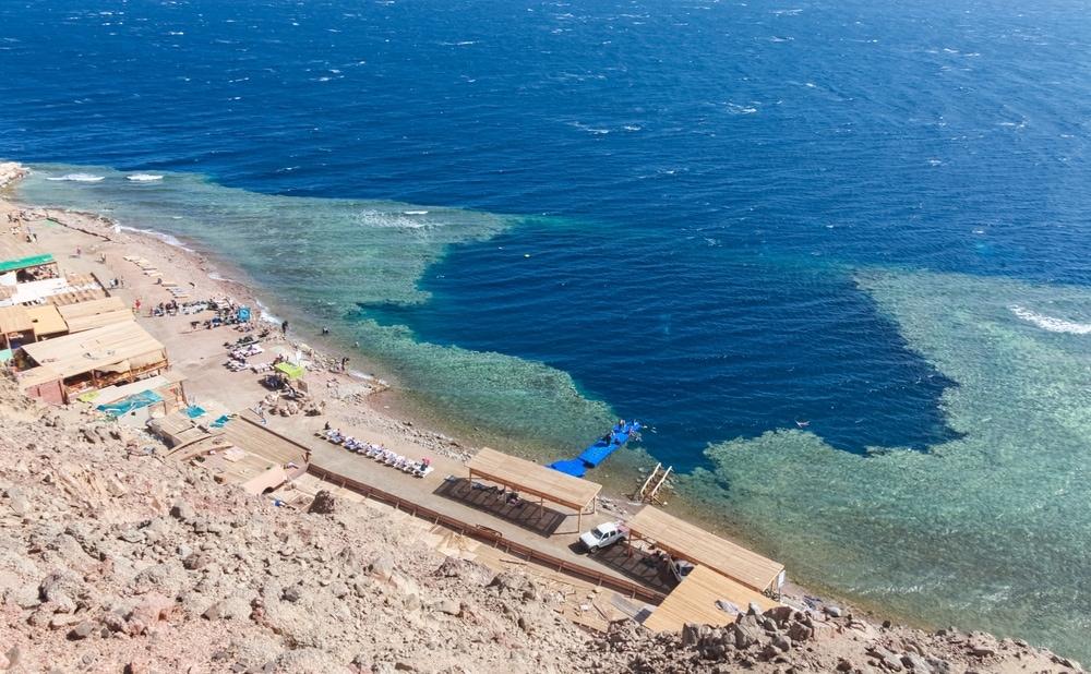 Sinkhole karst landform in Egypt