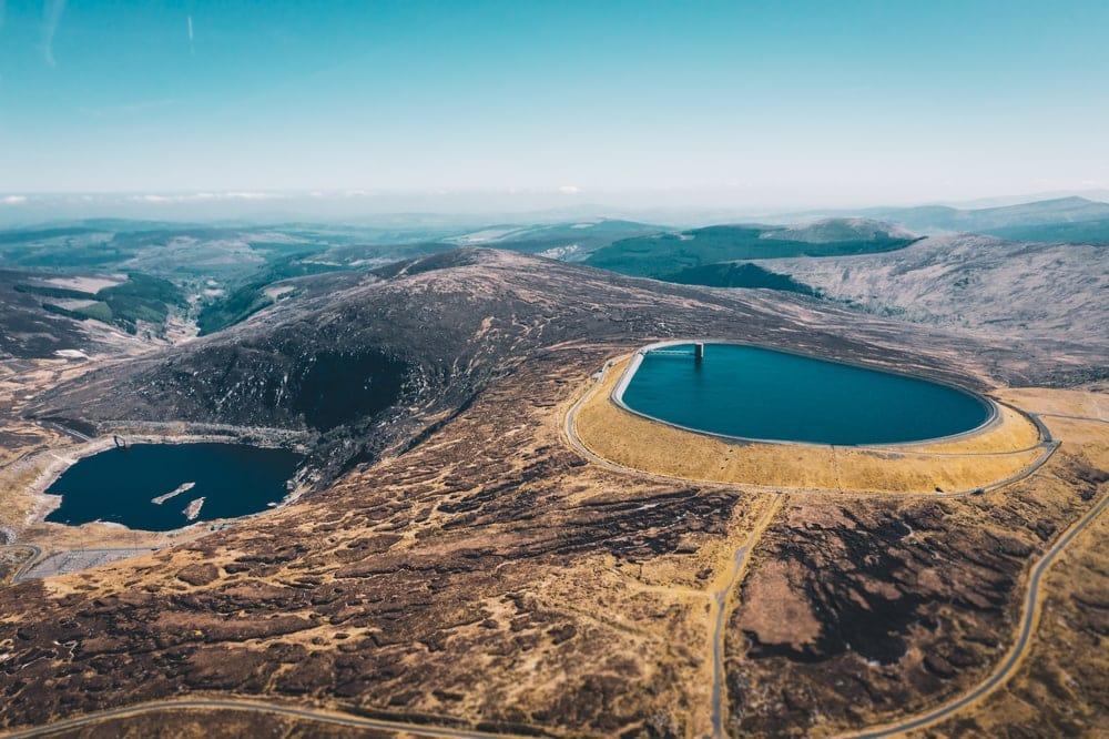 Turlough karst landform in Ireland
