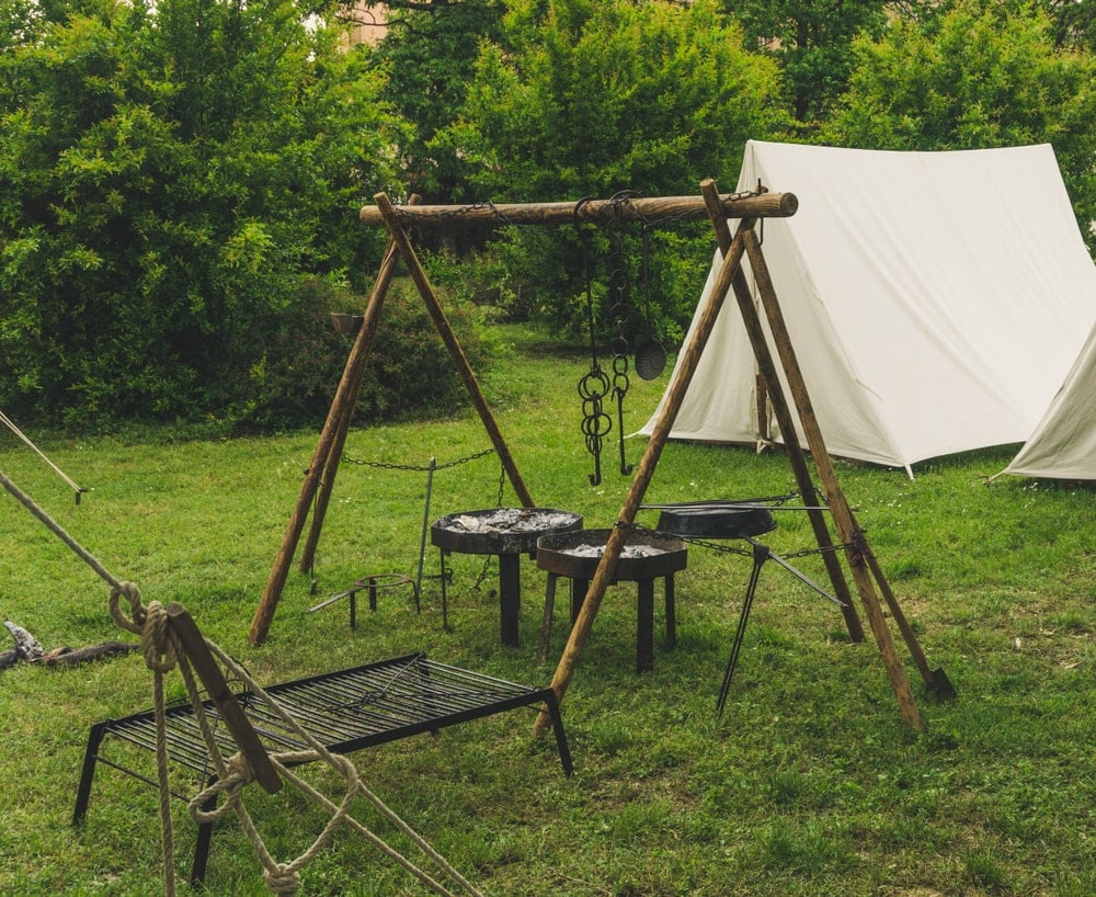 Camping grills and camping tents
