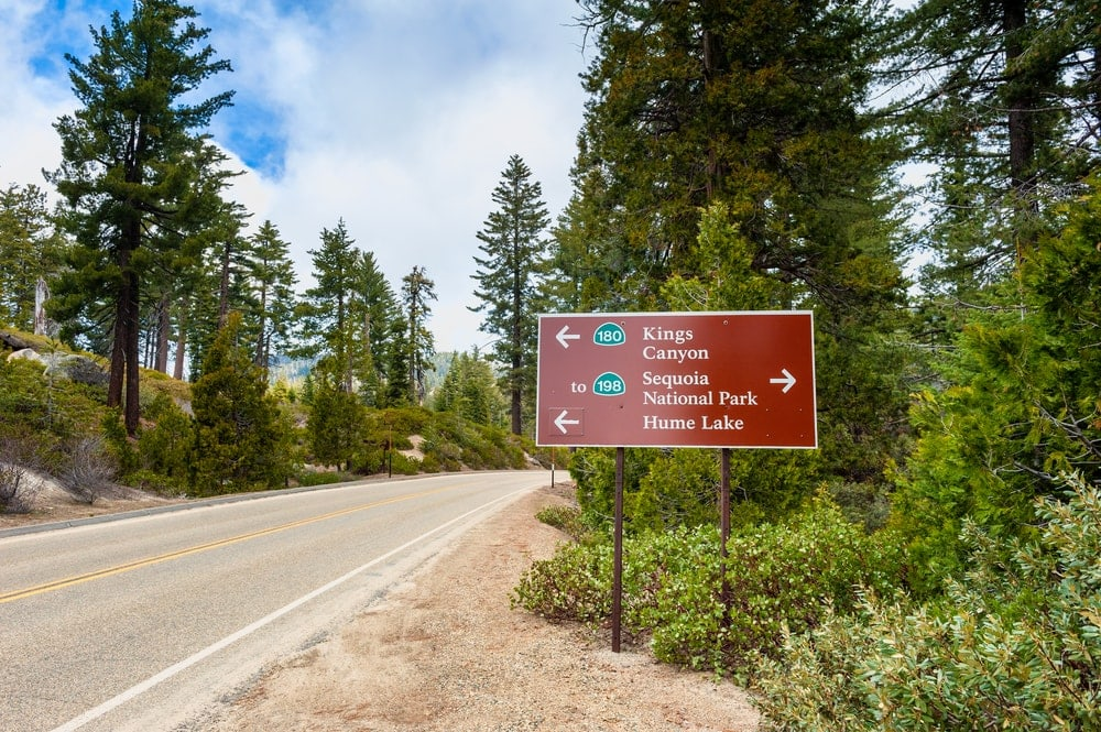 Highway trail signs