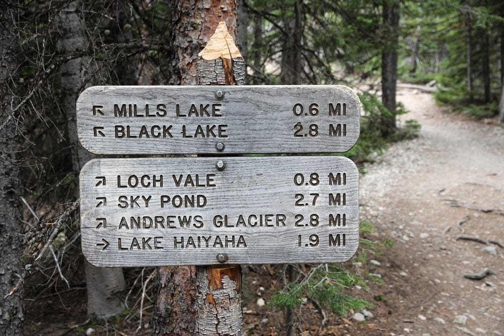 Mile markers to guide hikers on the trail