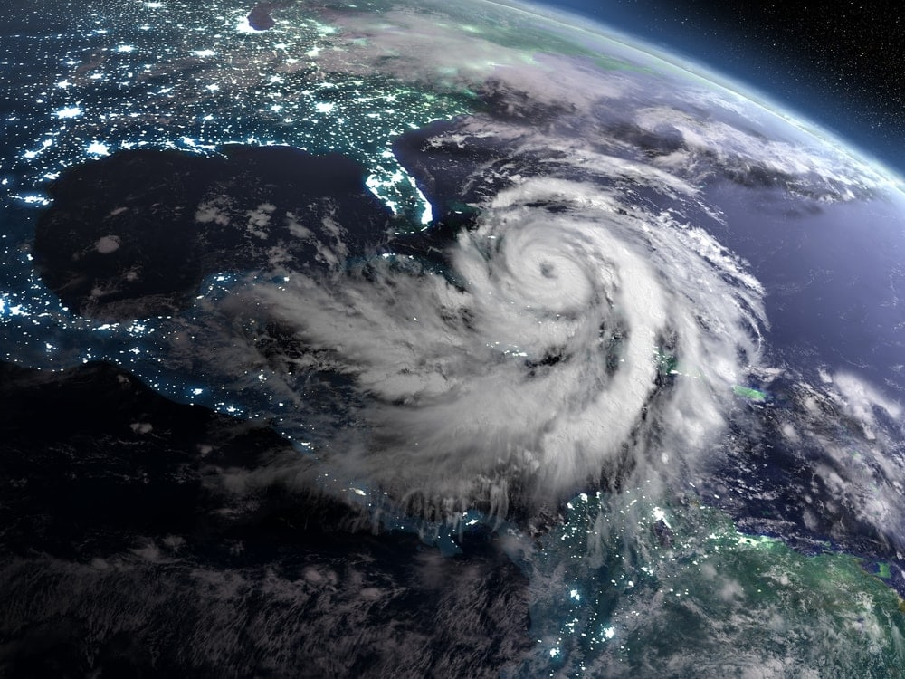 Space view of a storm