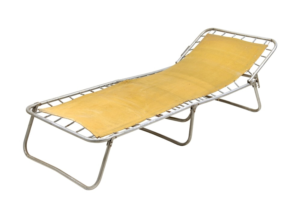 Yellow caping cot